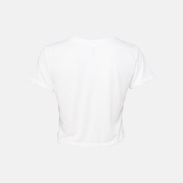 Lössittande, korta t-shirts med reklamtryck