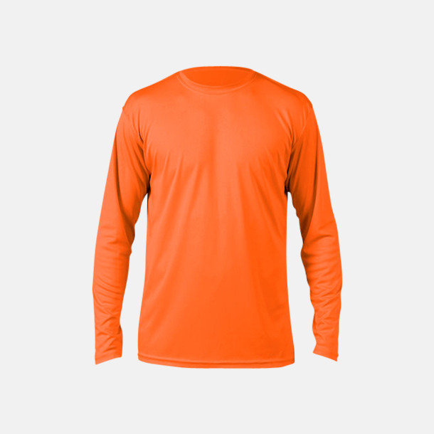 Safety Orange (herr) Långärmad funktionströja i PURE tech-tyg