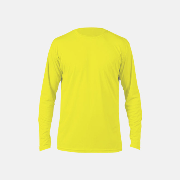 Safety Yellow (herr) Långärmad funktionströja i PURE tech-tyg