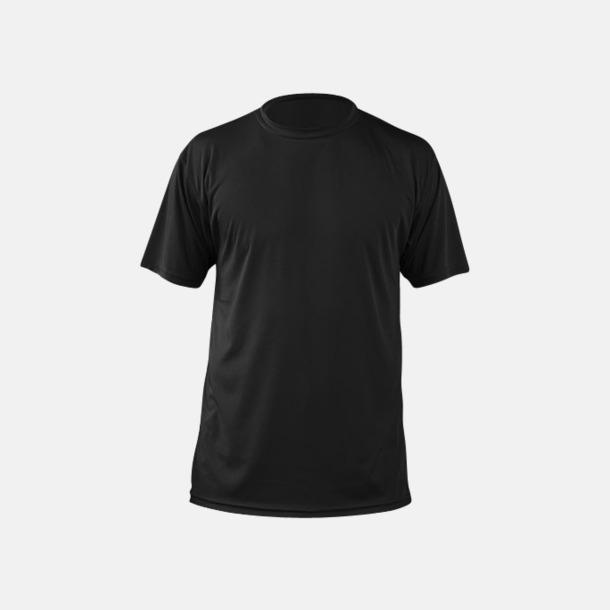 Svart (herr) Fina sport t-shirts med reklamtryck