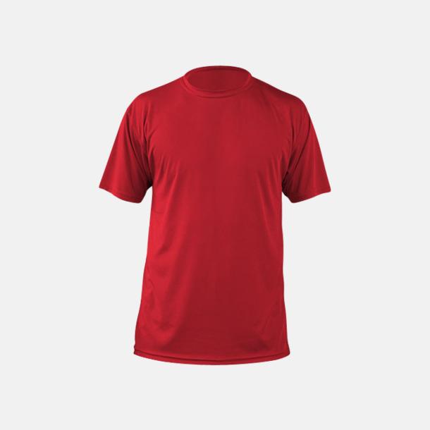 Mars Red (herr) Fina sport t-shirts med reklamtryck