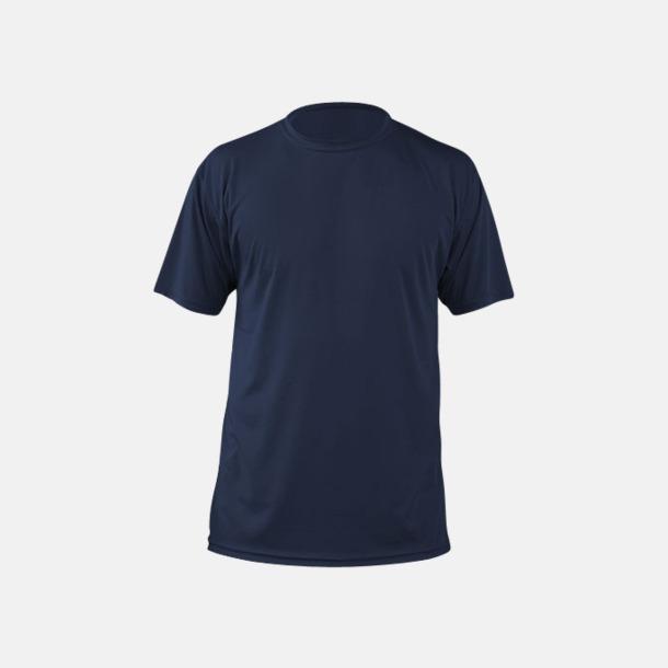 Marinblå (herr) Fina sport t-shirts med reklamtryck