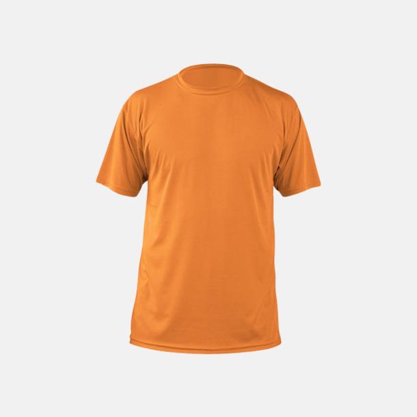 Orange (herr) Fina sport t-shirts med reklamtryck