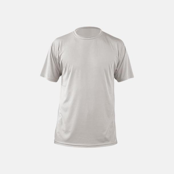Pearl Grey (herr) Fina sport t-shirts med reklamtryck