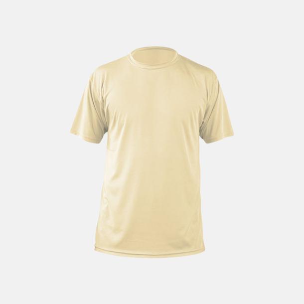 Pale Yellow (herr) Fina sport t-shirts med reklamtryck
