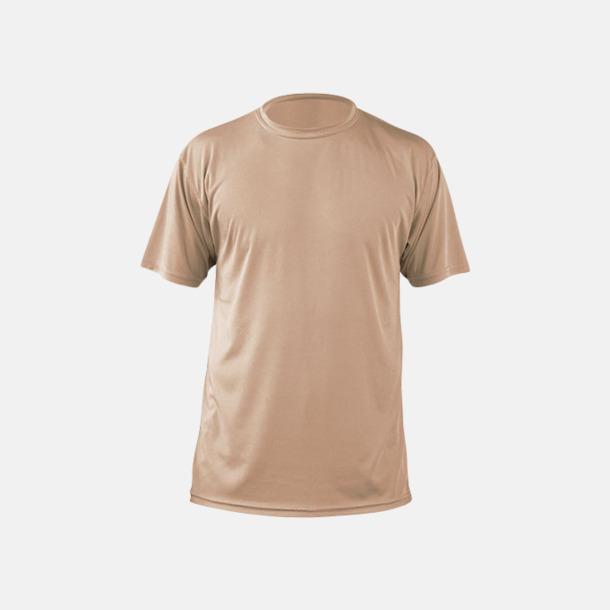 Tan (herr) Fina sport t-shirts med reklamtryck