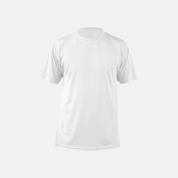 Vit (herr) Fina sport t-shirts med reklamtryck