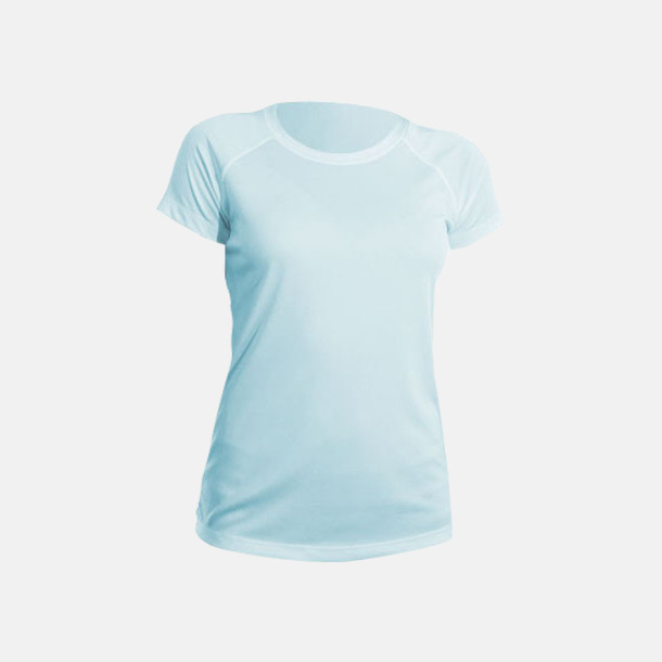 Arctic Blue (dam) Fina sport t-shirts med reklamtryck