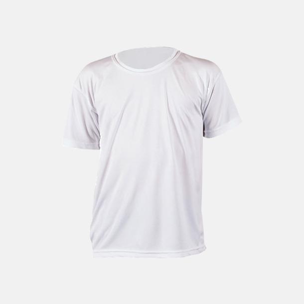 Vit (barn) Fina sport t-shirts med reklamtryck