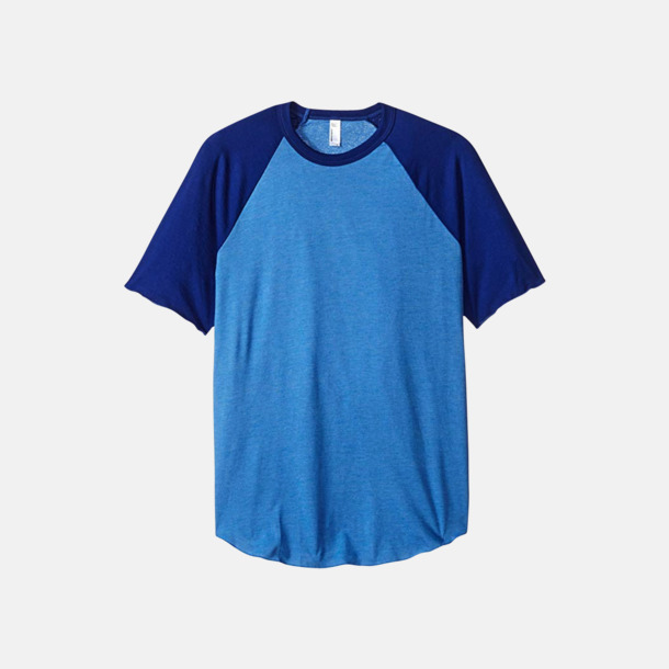 Heather Lake Blue/Mörkblå T-shirts med reklamtryck