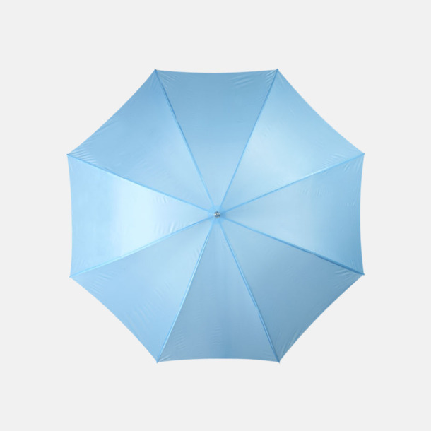 Process Blue Enfärgade eller randiga golfparaplyer med reklamtryck