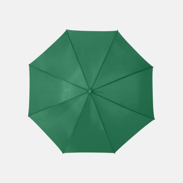 Grön Enfärgade eller randiga golfparaplyer med reklamtryck