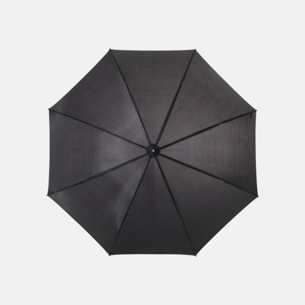 Svart Enfärgade eller randiga golfparaplyer med reklamtryck
