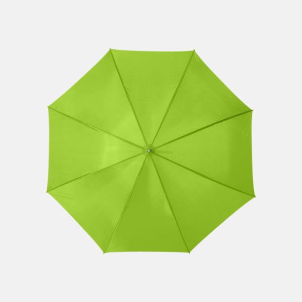 Limegrön Enfärgade eller randiga golfparaplyer med reklamtryck