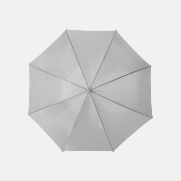 Ljusgrå Enfärgade eller randiga golfparaplyer med reklamtryck