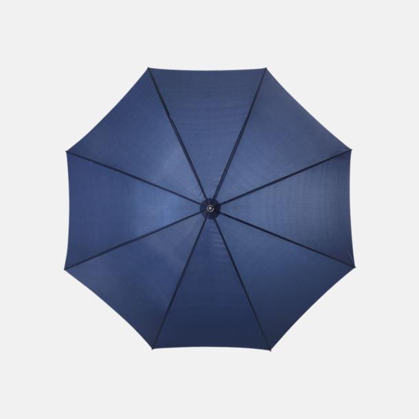 Marinblå Enfärgade eller randiga golfparaplyer med reklamtryck