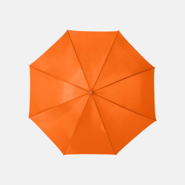 Orange Enfärgade eller randiga golfparaplyer med reklamtryck
