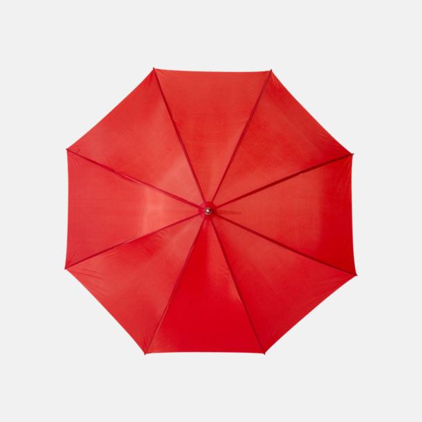 Röd Enfärgade eller randiga golfparaplyer med reklamtryck