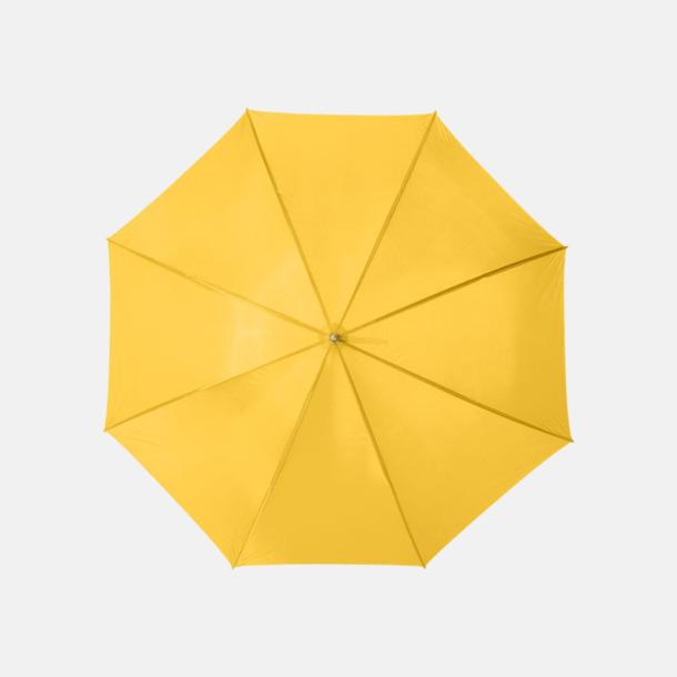 Gul Enfärgade eller randiga golfparaplyer med reklamtryck