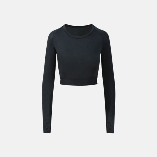 Jet Black Crop top med reklamtryck