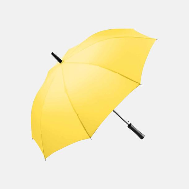 Gul FARE-paraplyer med reklamtryck