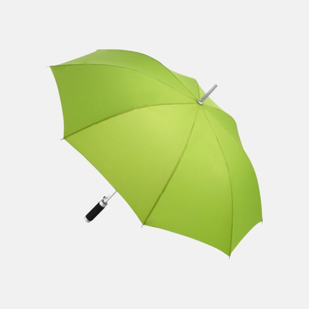 Limegrön Paraplyer med reklamtryck