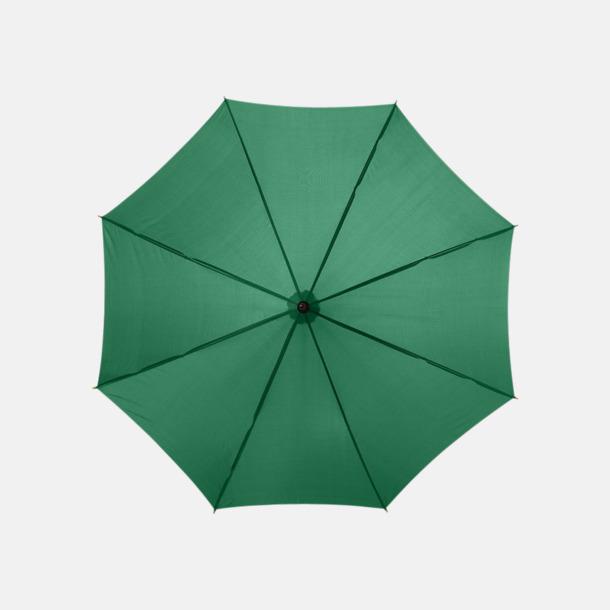 Grön Klassiskt reklamparaply med tryck