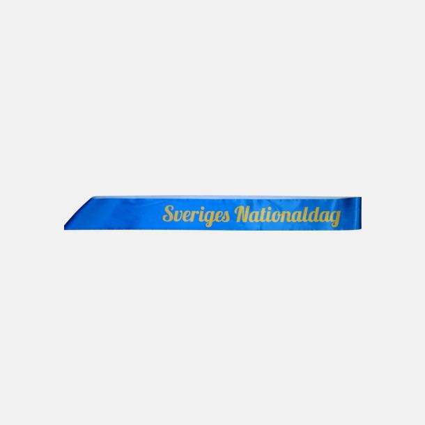 Egna mått på ordensband med tryck - egen logo