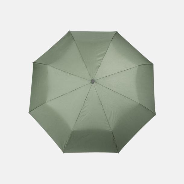 Hunter Green Kompaktparaplyer med kontrstrem - med reklamtryck