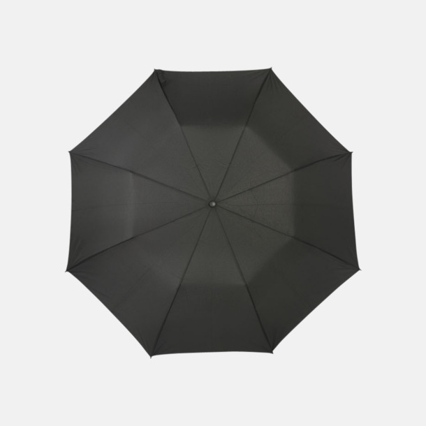 Svart 2-sektions auto-paraplyer med reklamtryck