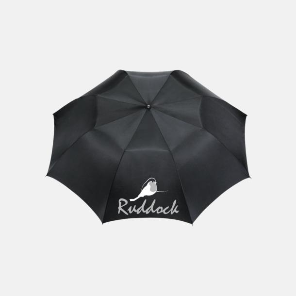 Med screentryck 2-sektions auto-paraplyer med reklamtryck