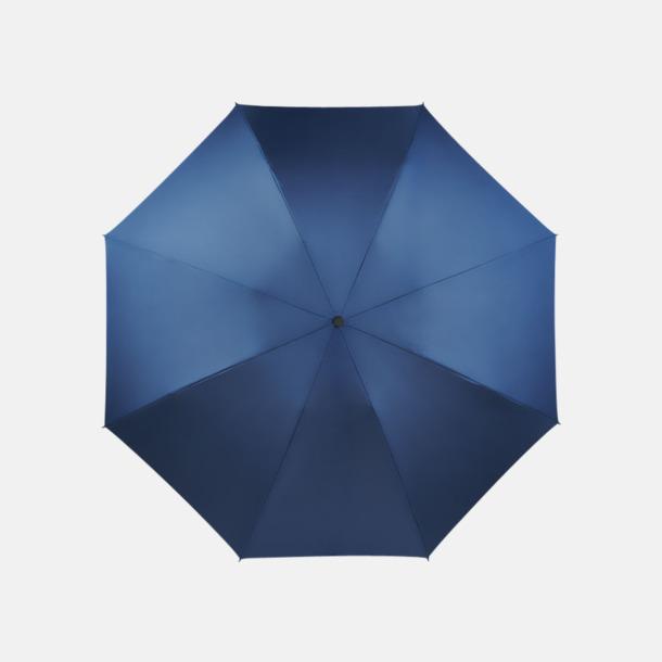 Marinblå Vändbara kompaktparaplyer med reklamtryck