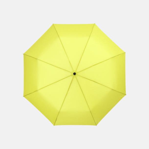 Neongrön 3-sektionsparaplyer med reklamtryck
