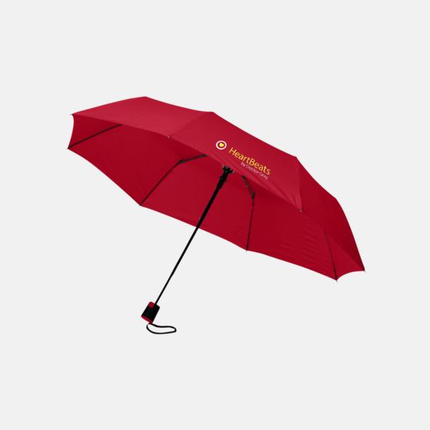 3-sektionsparaplyer med reklamtryck