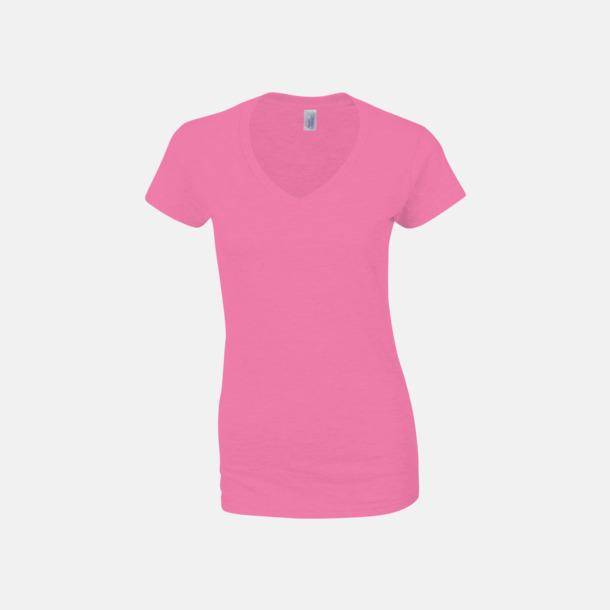 Azalea (dam) Billiga v-ringade t-shirts med reklamtryck