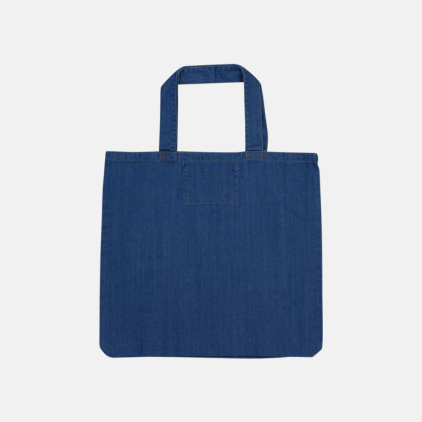 Denim Blue (maxi) Eko jeanskassar i 2 storlekar med reklamtryck