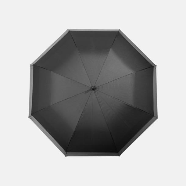 Svart Utvidgningsbara paraplyer med reklamtryck