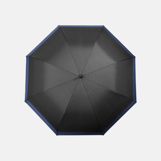 Svart / Marinblå Utvidgningsbara paraplyer med reklamtryck