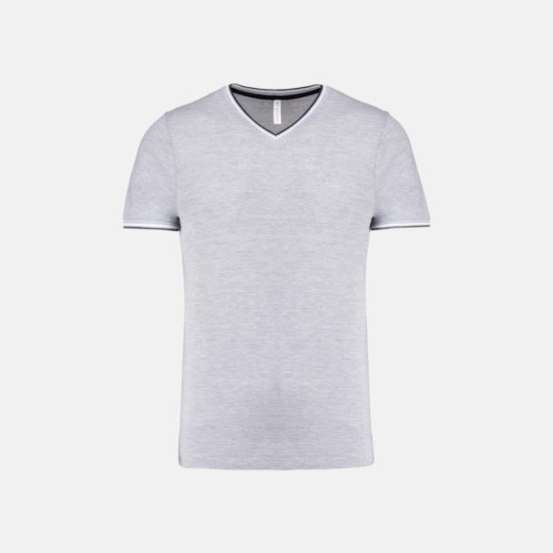 Oxford Grey/Marinblå/Vit (herr) Unika bomulls t-shirts med reklamtryck