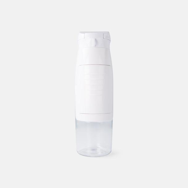 Vit Vattenflaskor med förvaringsfack - med reklamtryck