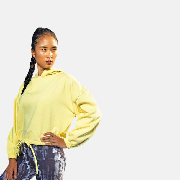 Korta, stora huvtröjor med reklamtryck