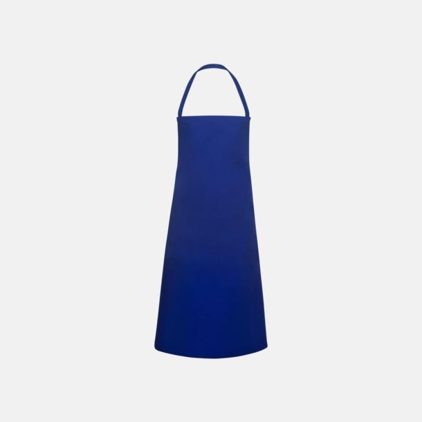 Blå Prisvärda förkläden med reklamtryck