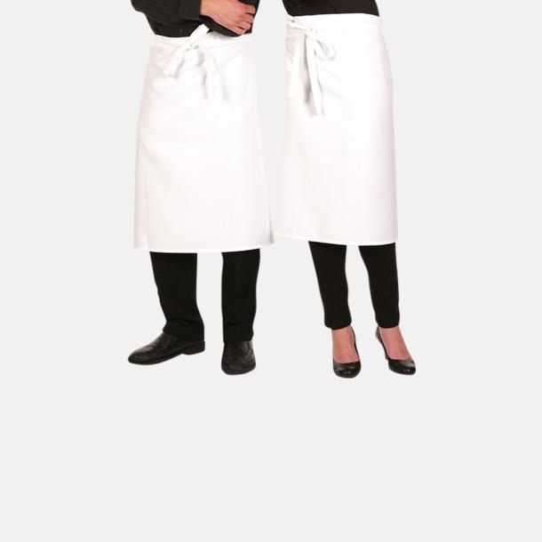 Vit (kockförkläde) Midjeförkläden  i 2 längder med sublimeringstryck