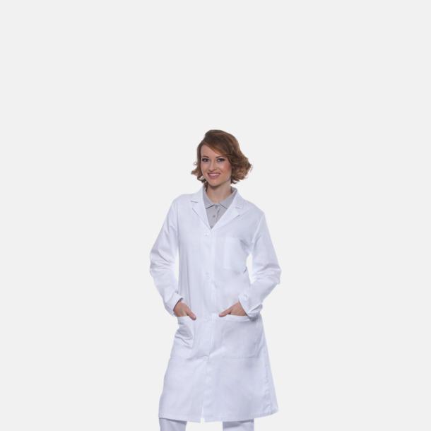 Läkarrockar i herr- och dammodell med reklamtryck