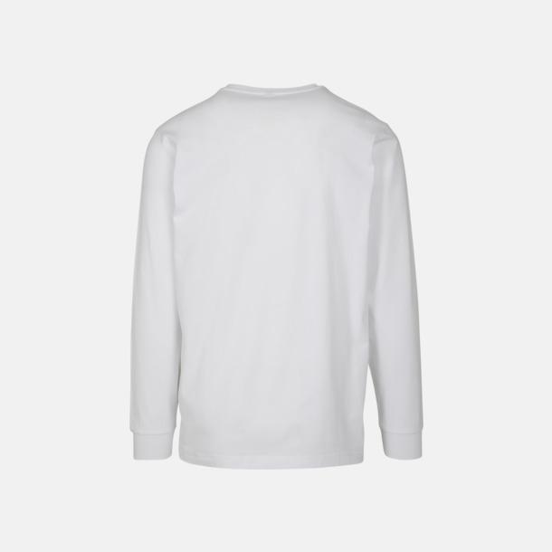 Långärmade t-shirts med ribbade muddar - med reklamtryck