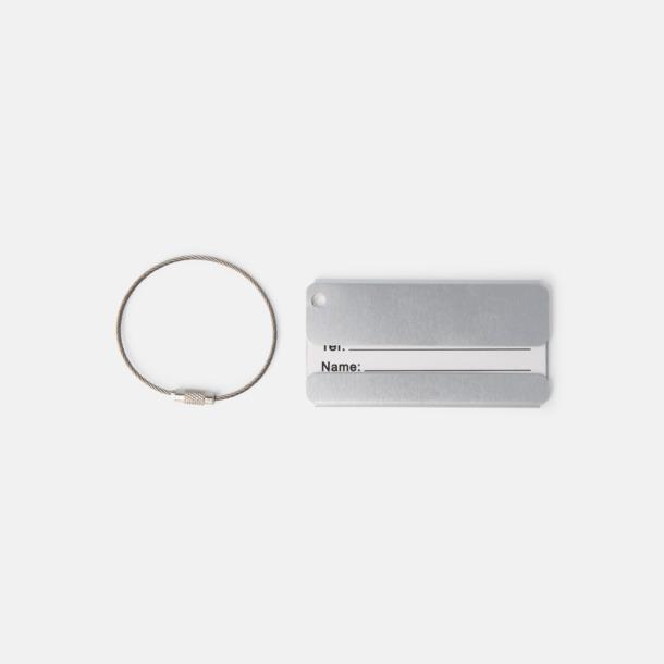 Silver Bagagebrickor i aluminium med tryck eller gravyr