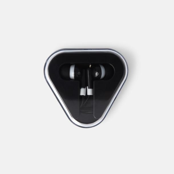 Svart In-ear hörlurar i praktisk förpackning