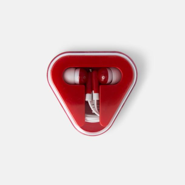 Röd In-ear hörlurar i praktisk förpackning