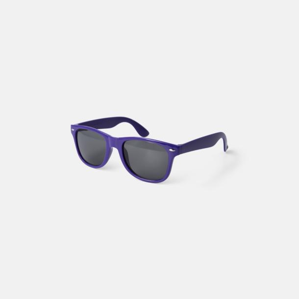 Lila (PMS Violet C) Trendiga solglasögon med tryck