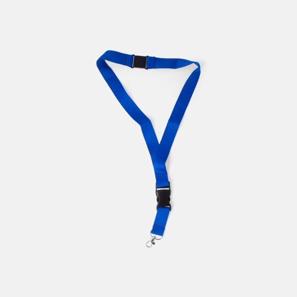 Blå Snabba logoband med eller utan reklamtryck